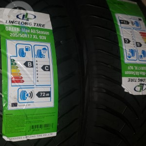 pneu occasion LINGLONG  all geen season 205/50R17 dpt 35